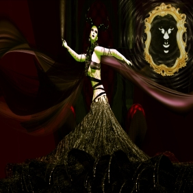 FEMME FATAL.The Evil Queen from Snow White consulting the magic mirror By Spartin Parx