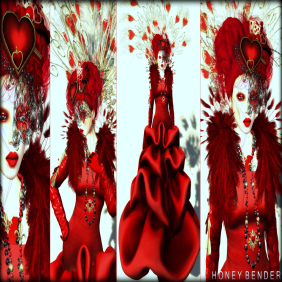 Style Card Fashion Teller Queen of Hearts Honey Bender 1